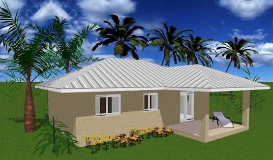 ORELIA - Maison en bois avec ossature acier de type F4 de 83 m²