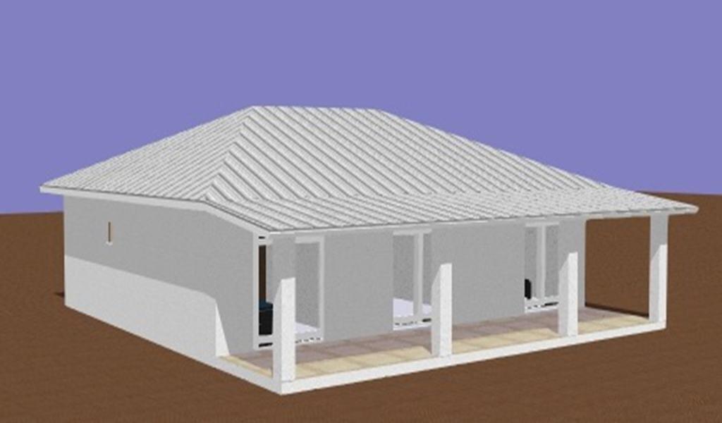 TOA – Maison à ossature métallique de type F4 de 123 m²