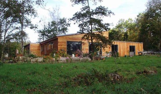 TREFLAN - Maison en bois avec ossature acier de type F3 de 189 m²